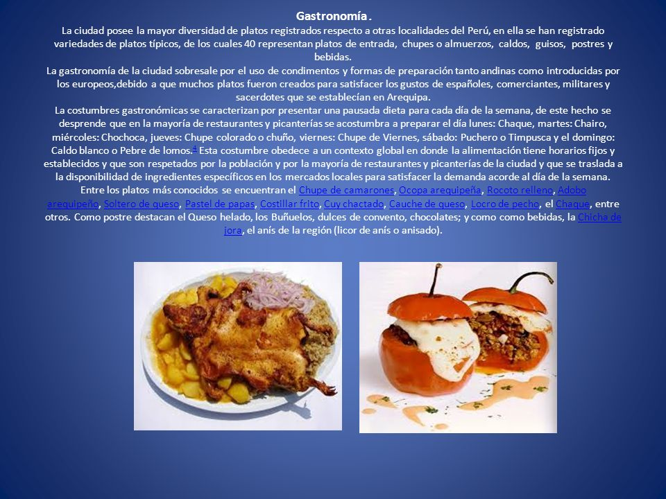 Gastronomía .