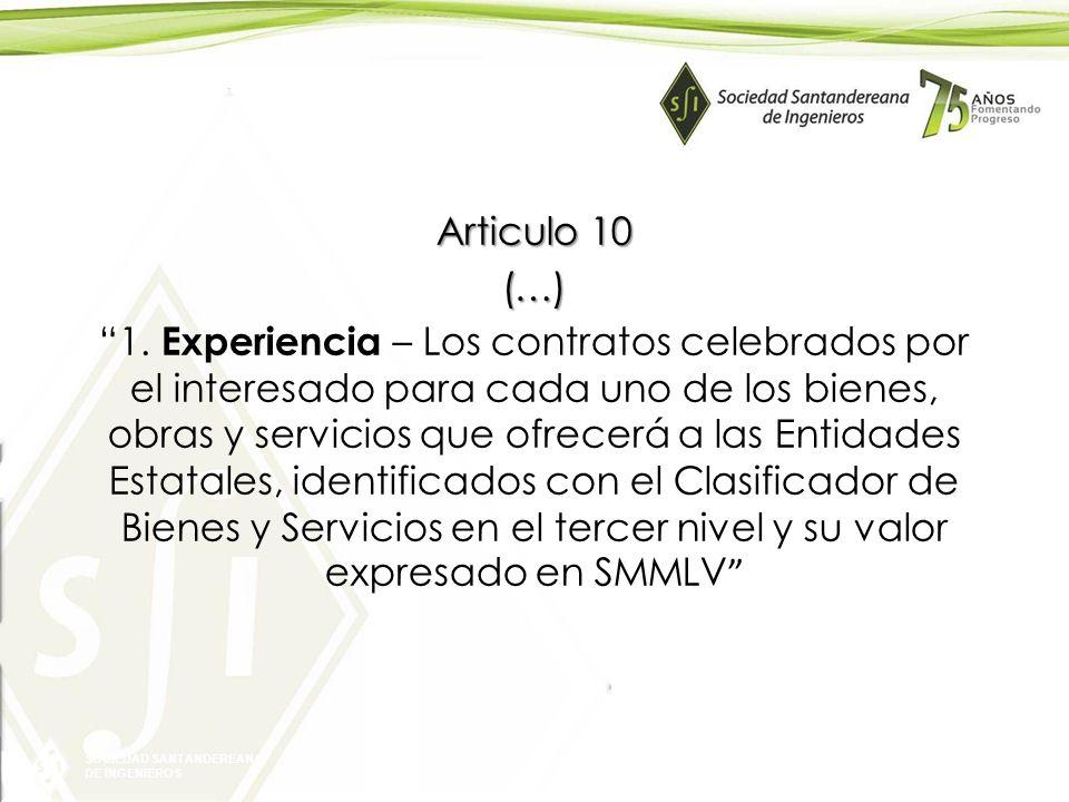 Articulo 10 (…) 1.