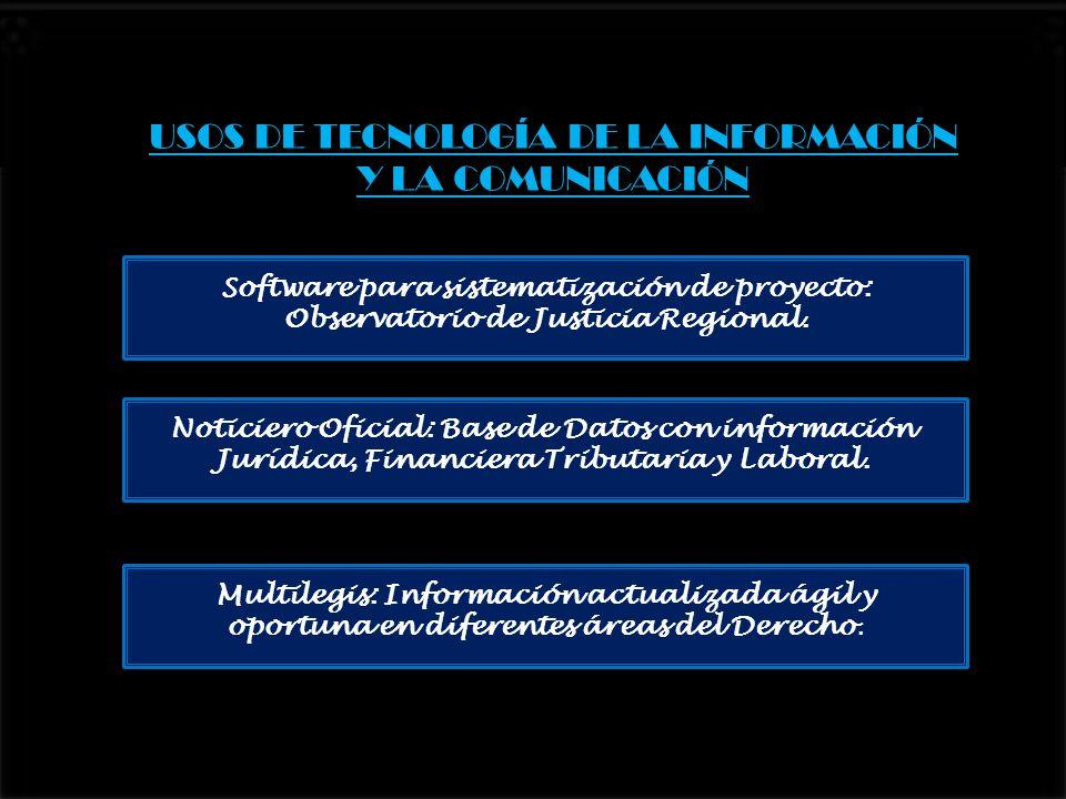 USOS DE TECNOLOGÍA DE LA INFORMACIÓN Y LA COMUNICACIÓN