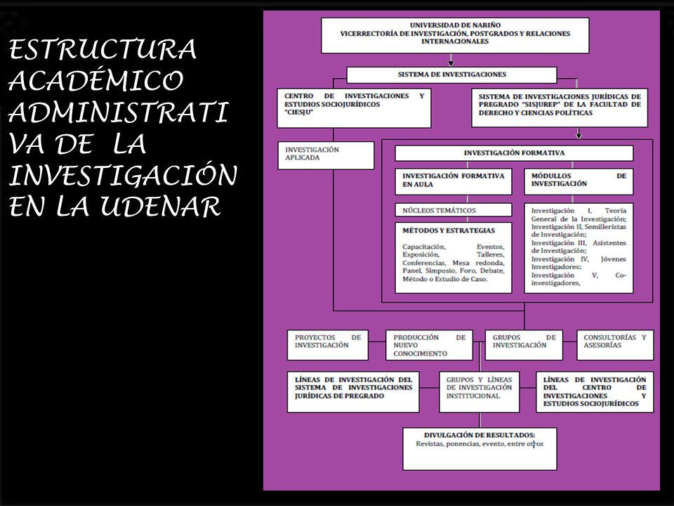 ESTRUCTURA ACADÉMICO ADMINISTRATIVA DE LA INVESTIGACIÓN EN LA UDENAR