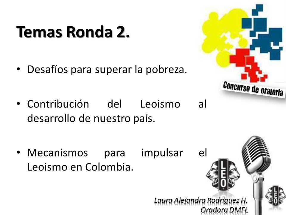 Temas Ronda 2. Desafíos para superar la pobreza.