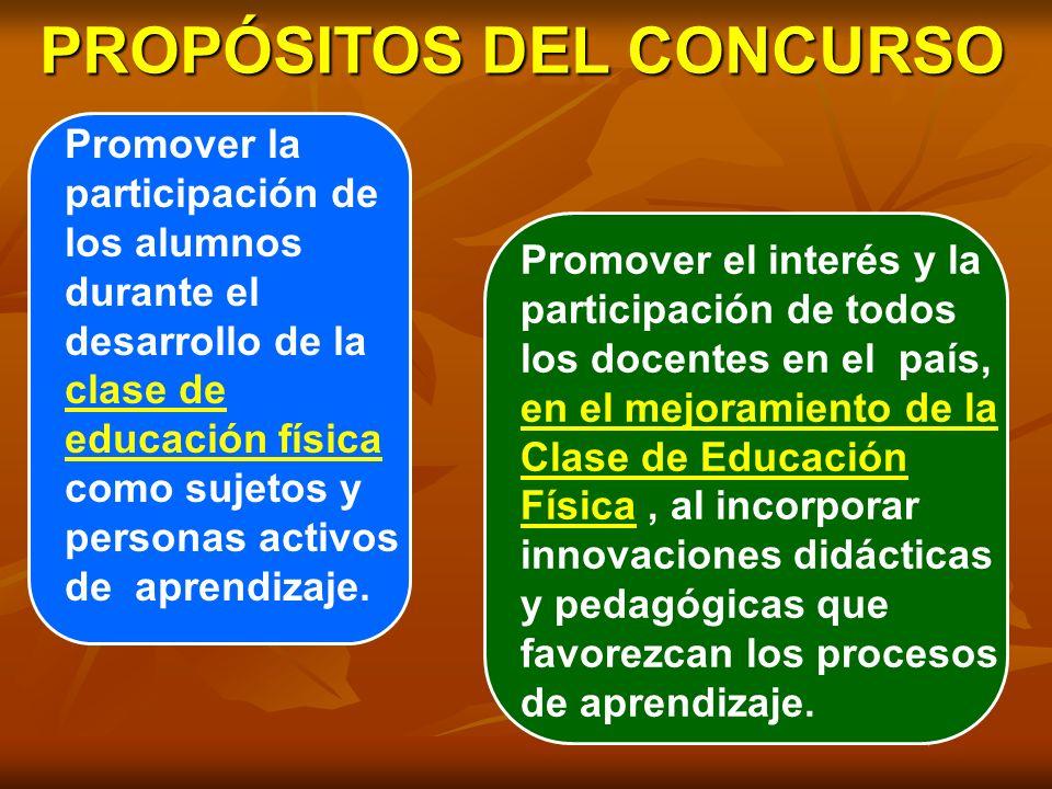 PROPÓSITOS DEL CONCURSO