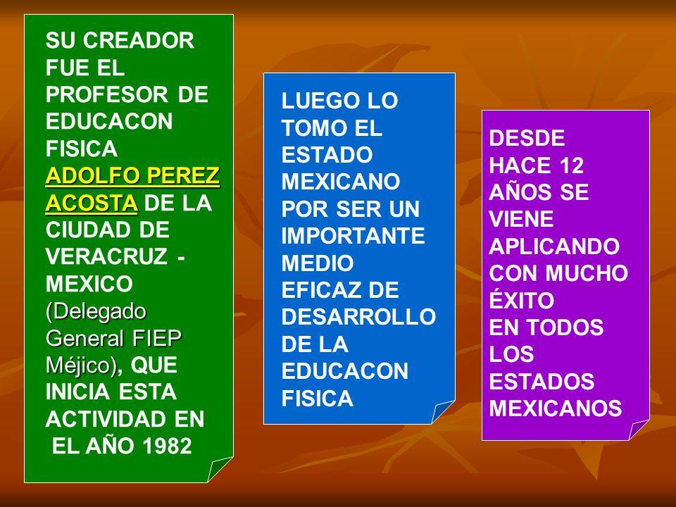 SU CREADOR FUE EL PROFESOR DE EDUCACON FISICA