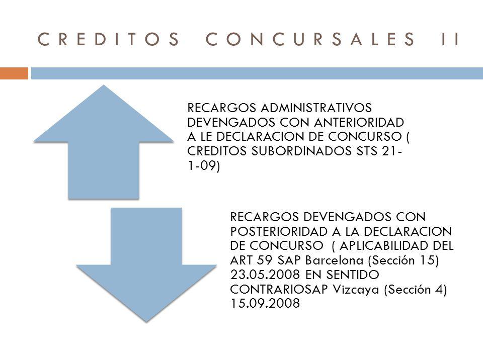 CREDITOS CONCURSALES II
