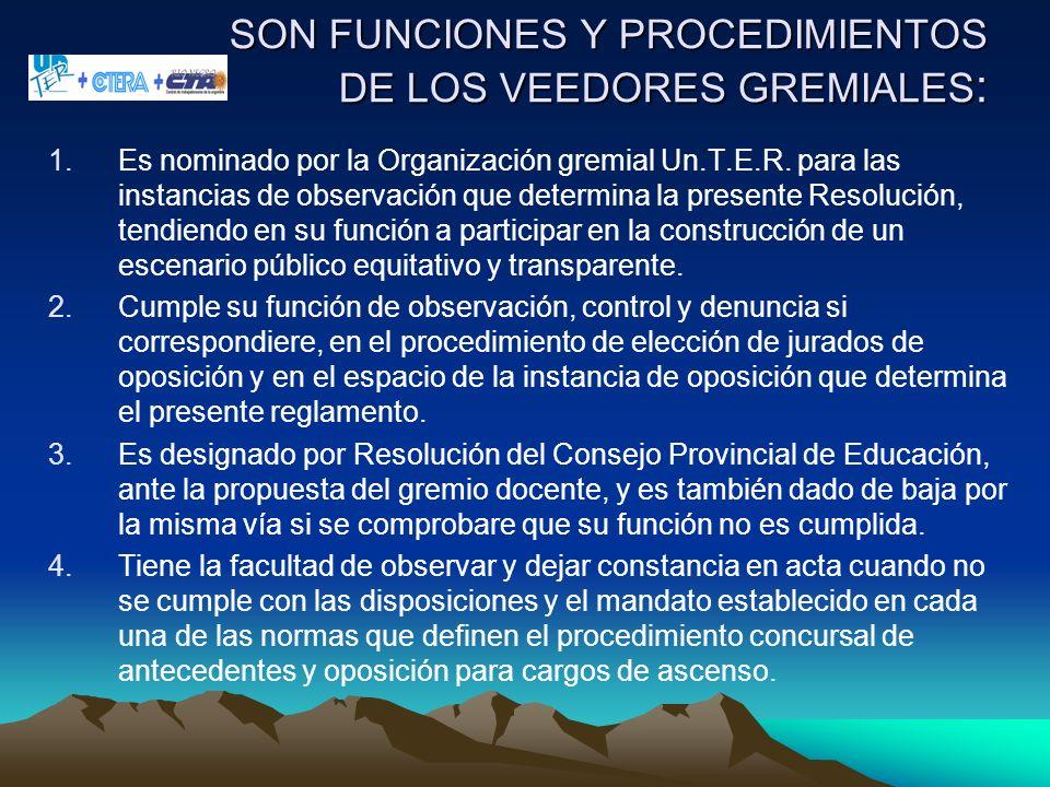 SON FUNCIONES Y PROCEDIMIENTOS DE LOS VEEDORES GREMIALES: