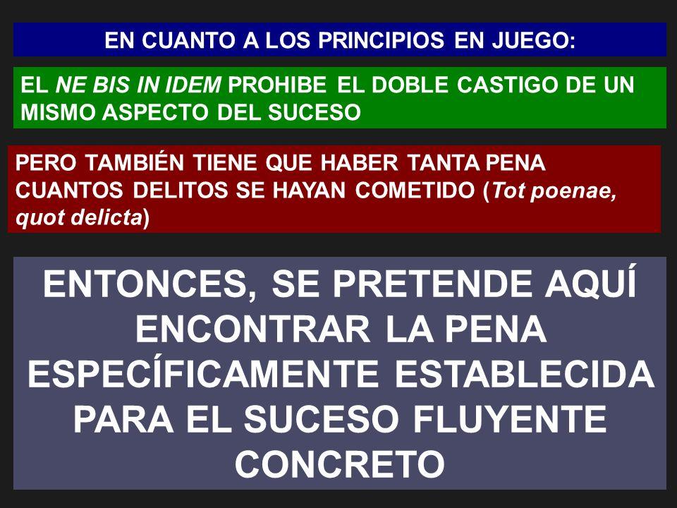 EN CUANTO A LOS PRINCIPIOS EN JUEGO: