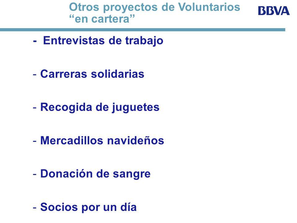 Otros proyectos de Voluntarios en cartera