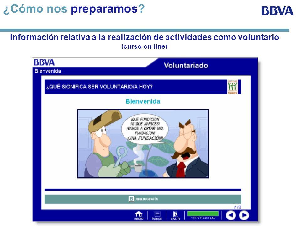 ¿Cómo nos preparamos Información relativa a la realización de actividades como voluntario (curso on line)