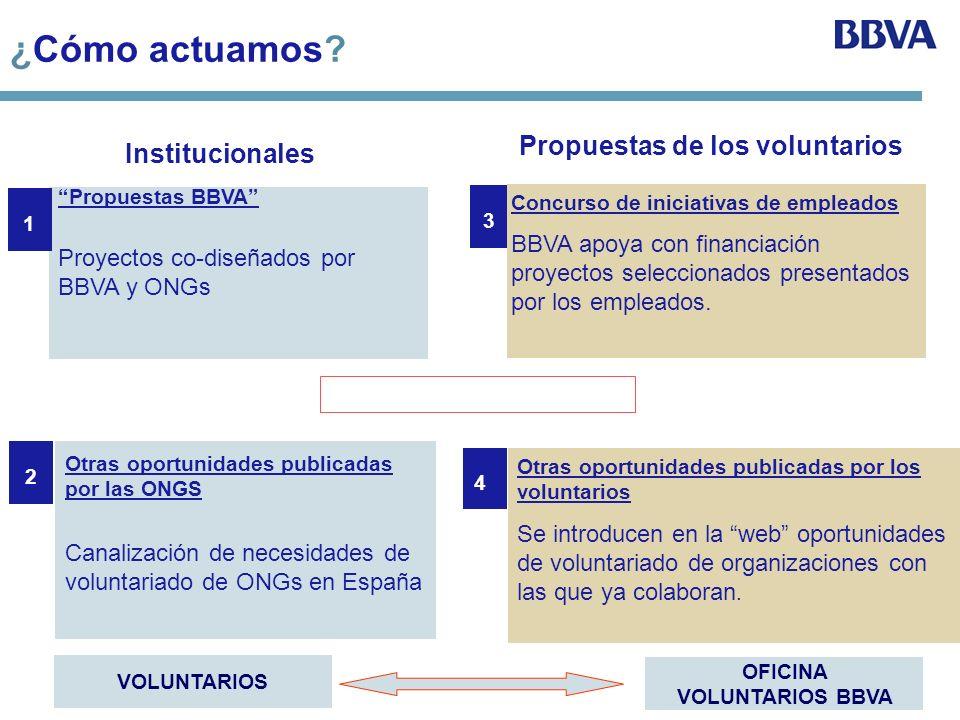 Propuestas de los voluntarios