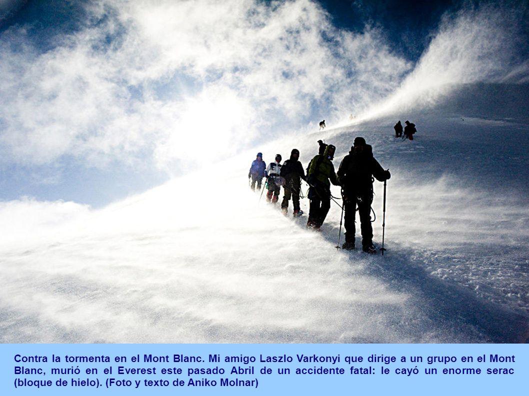 Contra la tormenta en el Mont Blanc