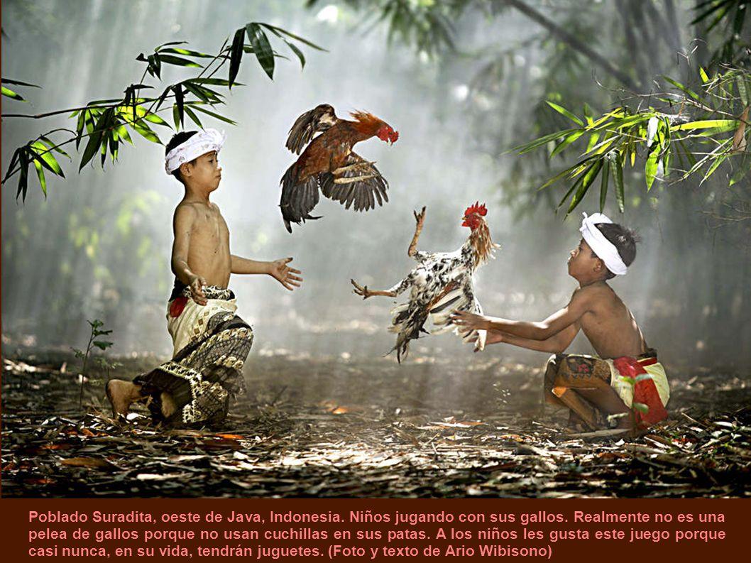 Poblado Suradita, oeste de Java, Indonesia