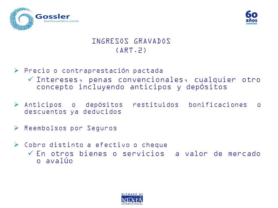 INGRESOS GRAVADOS (ART.2)