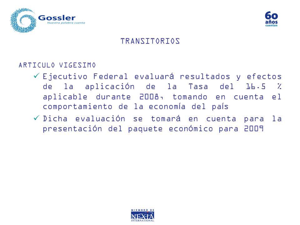 TRANSITORIOS ARTICULO VIGESIMO.