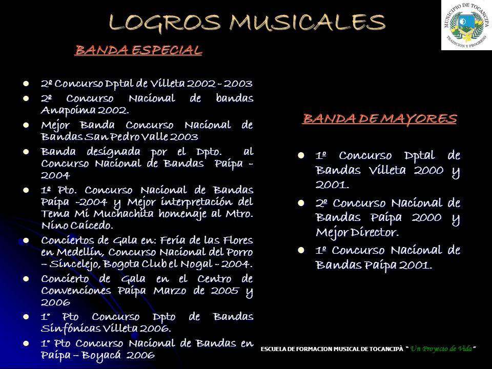ESCUELA DE FORMACION MUSICAL DE TOCANCIPÀ Un Proyecto de Vida
