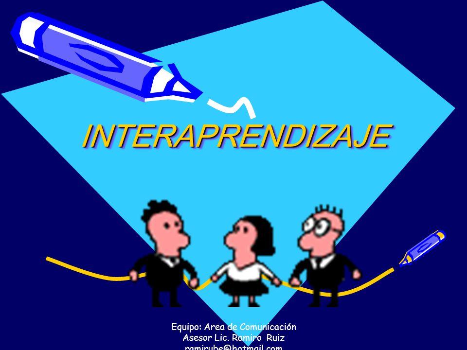 INTERAPRENDIZAJE Equipo: Area de Comunicación Asesor Lic. Ramiro Ruiz ramirube@hotmail.com