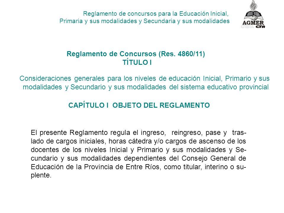 Reglamento de Concursos (Res. 4860/11) TÍTULO I