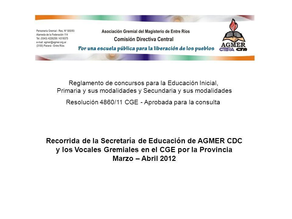 Recorrida de la Secretaría de Educación de AGMER CDC