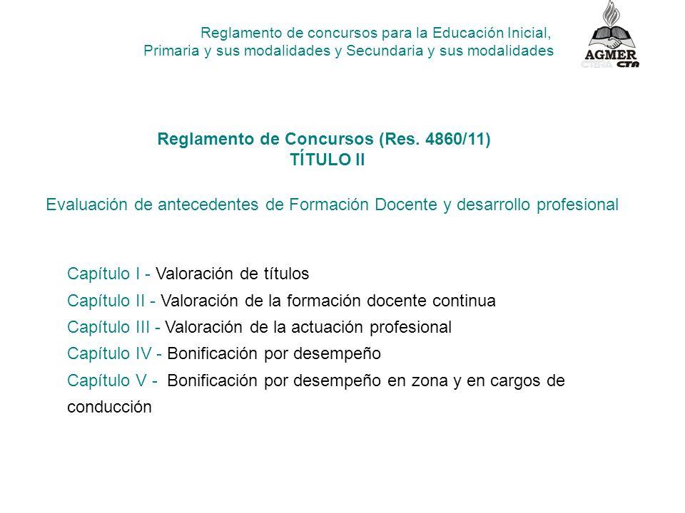 Reglamento de Concursos (Res. 4860/11)