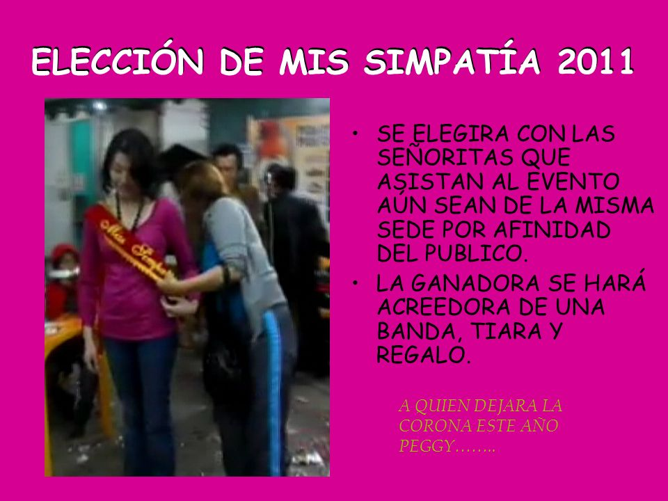 ELECCIÓN DE MIS SIMPATÍA 2011