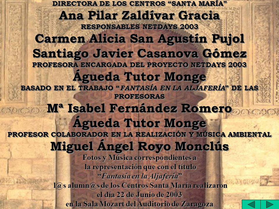 Ana Pilar Zaldívar Gracia Carmen Alicia San Agustín Pujol