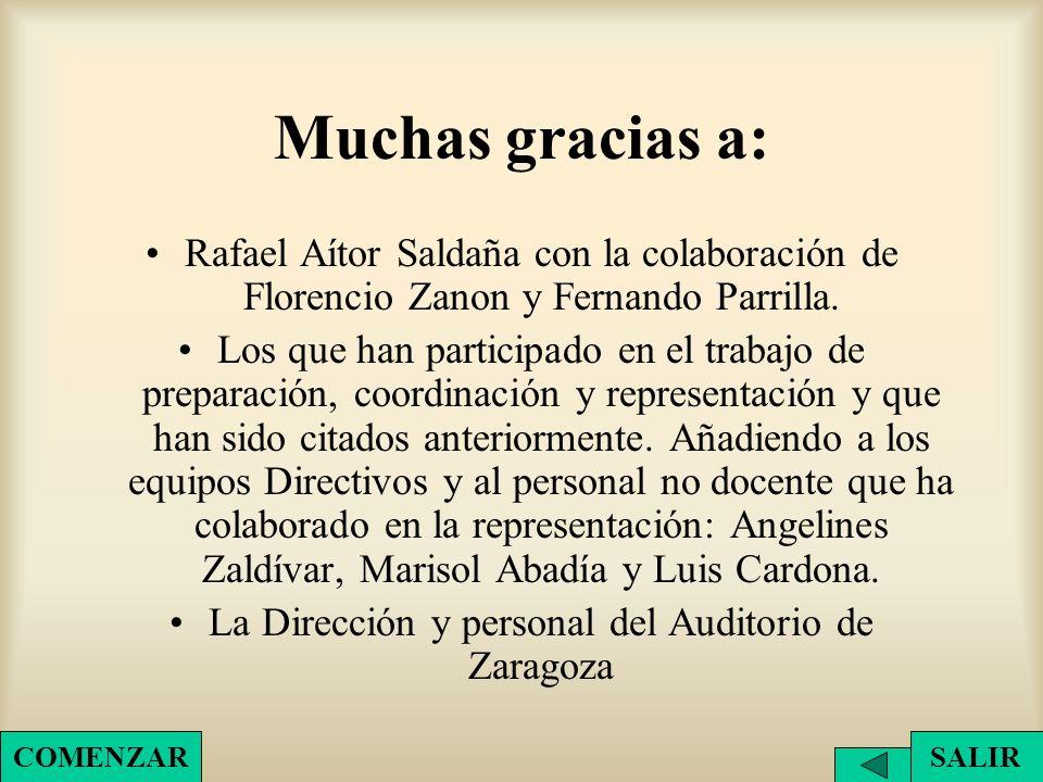 La Dirección y personal del Auditorio de Zaragoza