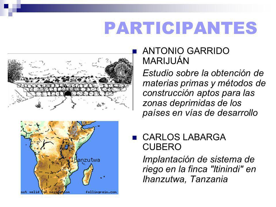 PARTICIPANTES ANTONIO GARRIDO MARIJUÁN