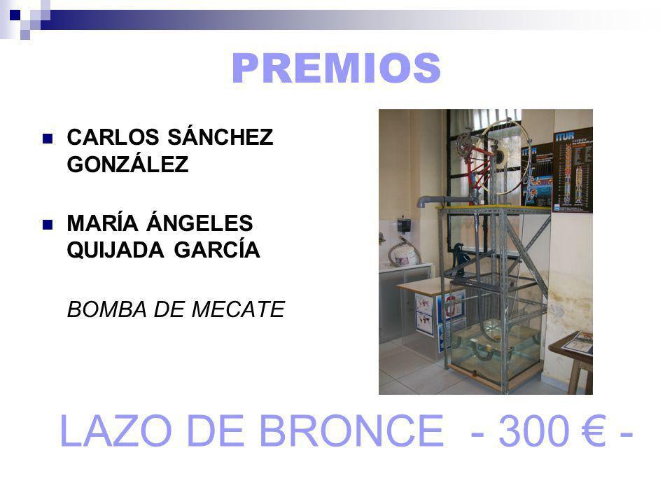 LAZO DE BRONCE - 300 € - PREMIOS CARLOS SÁNCHEZ GONZÁLEZ