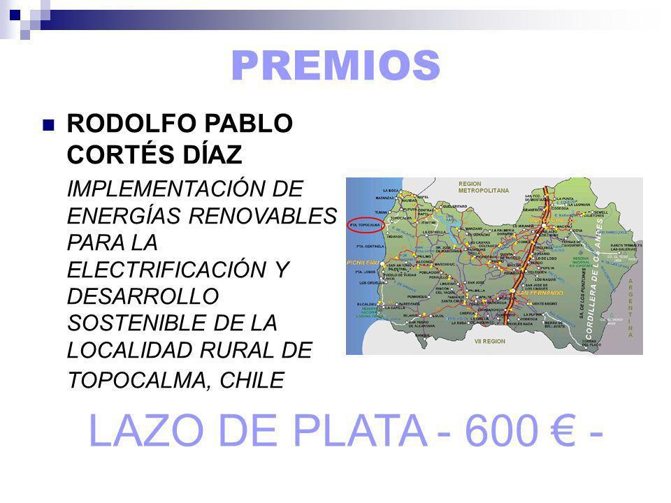 LAZO DE PLATA - 600 € - PREMIOS RODOLFO PABLO CORTÉS DÍAZ