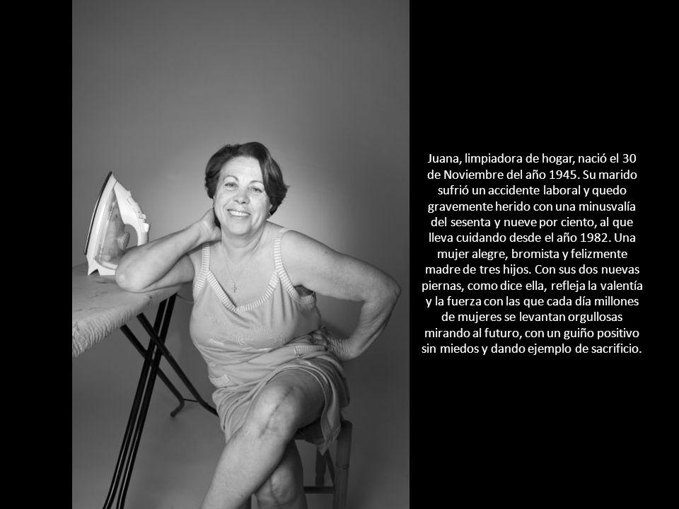 Juana, limpiadora de hogar, nació el 30 de Noviembre del año 1945