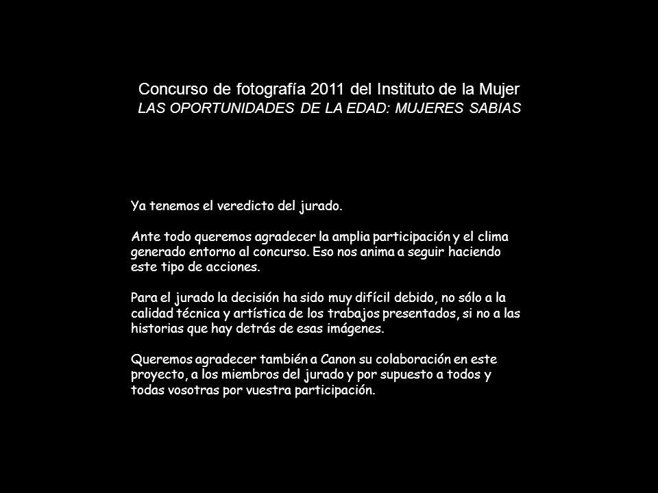 Concurso de fotografía 2011 del Instituto de la Mujer