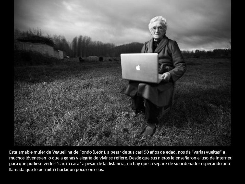 Esta amable mujer de Veguellina de Fondo (León), a pesar de sus casi 90 años de edad, nos da varias vueltas a muchos jóvenes en lo que a ganas y alegría de vivir se refiere.