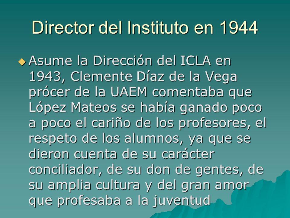 Director del Instituto en 1944