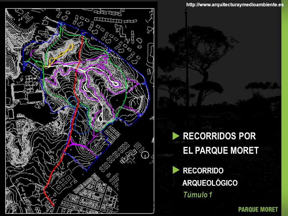 u RECORRIDOS POR EL PARQUE MORET u RECORRIDO ARQUEOLÓGICO Túmulo 1