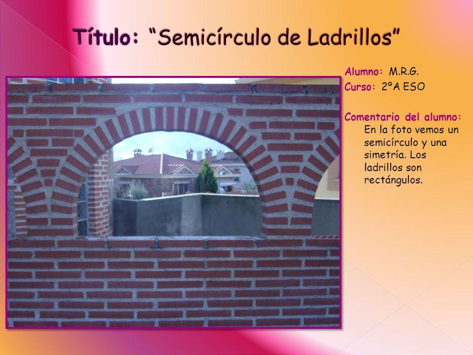 Título: Semicírculo de Ladrillos