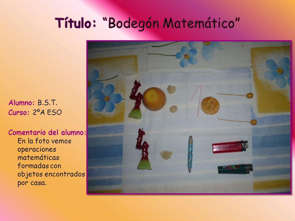 Título: Bodegón Matemático
