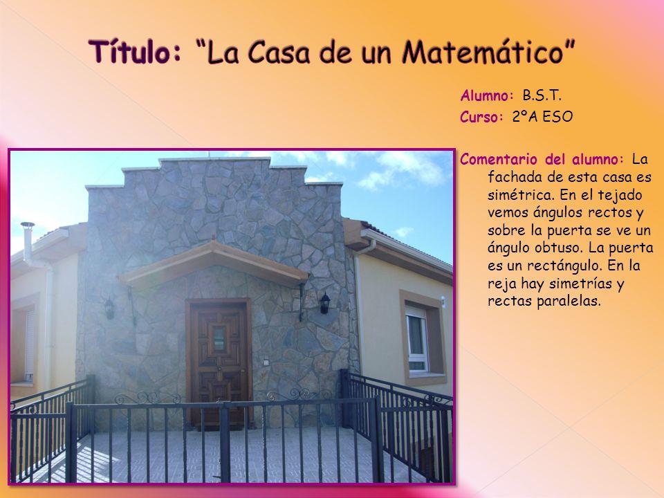 Título: La Casa de un Matemático
