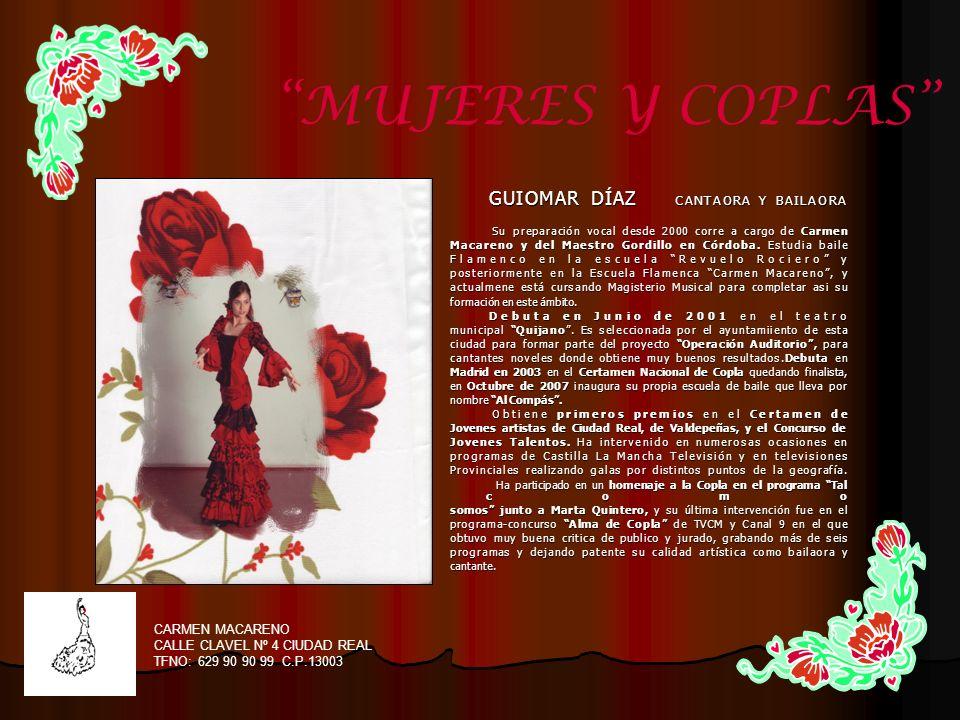 MUJERES Y COPLAS CARMEN MACARENO CALLE CLAVEL Nº 4 CIUDAD REAL