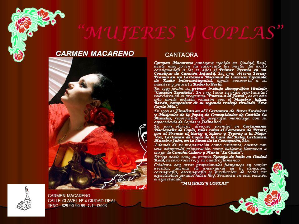 MUJERES Y COPLAS CARMEN MACARENO CANTAORA CARMEN MACARENO