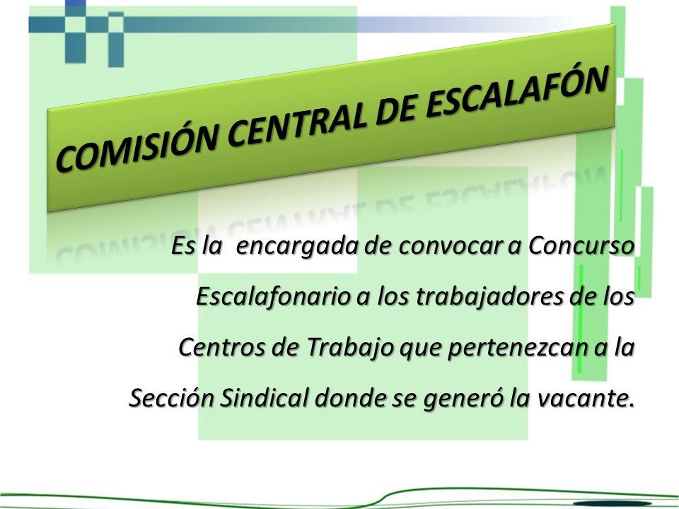 COMISIÓN CENTRAL DE ESCALAFÓN