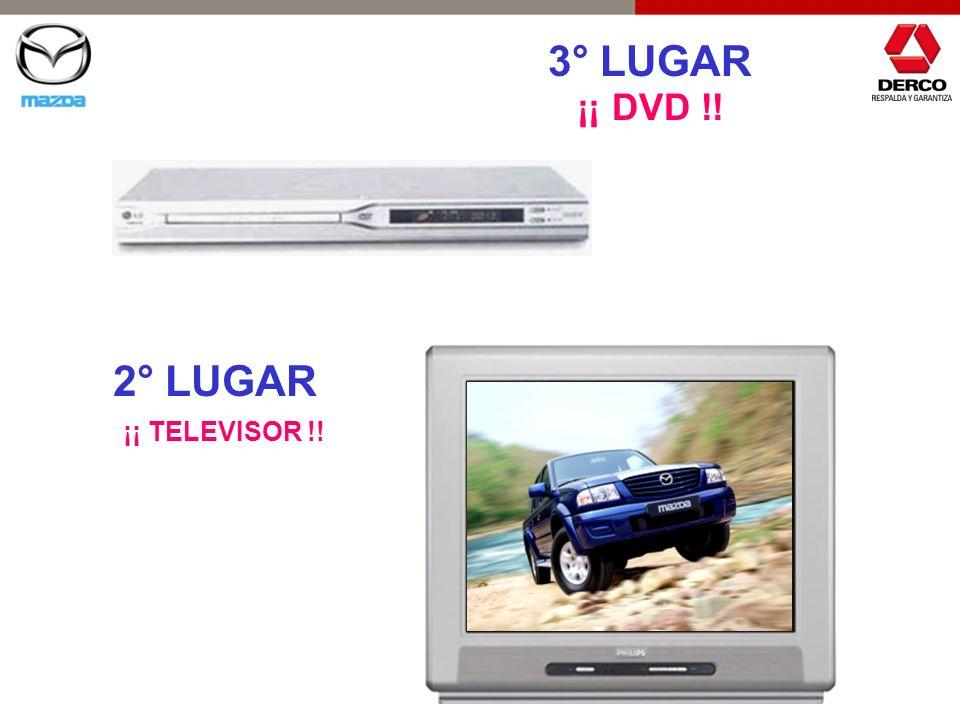 3° LUGAR ¡¡ DVD !! 2° LUGAR ¡¡ TELEVISOR !!