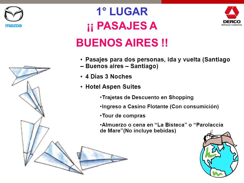 1° LUGAR ¡¡ PASAJES A BUENOS AIRES !!