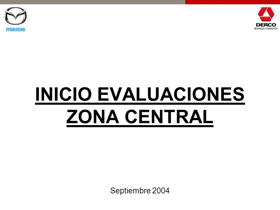 INICIO EVALUACIONES ZONA CENTRAL