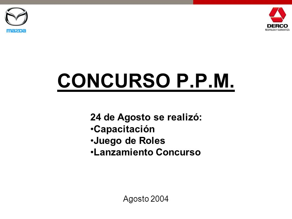 CONCURSO P.P.M. 24 de Agosto se realizó: Capacitación Juego de Roles