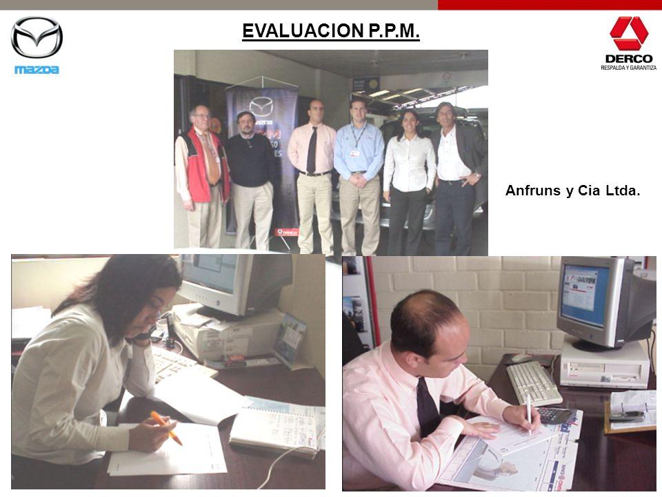 EVALUACION P.P.M. Anfruns y Cia Ltda.
