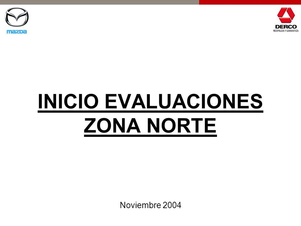 INICIO EVALUACIONES ZONA NORTE