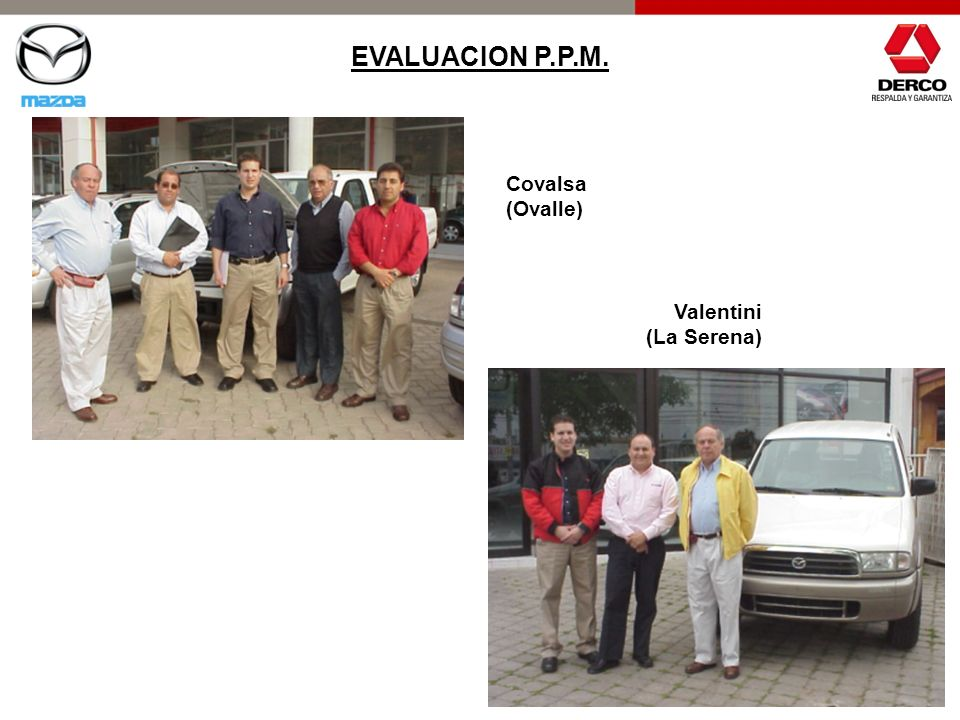 EVALUACION P.P.M. Covalsa (Ovalle) Valentini (La Serena)