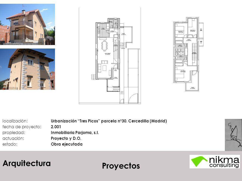 localización:. Urbanización Tres Picos parcela nº30