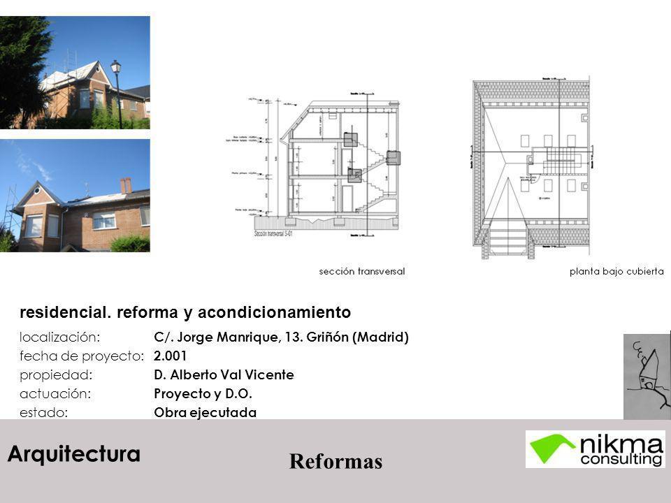 residencial. reforma y acondicionamiento
