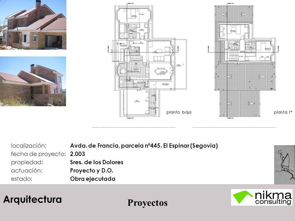 localización: Avda. de Francia, parcela nº445. El Espinar (Segovia)