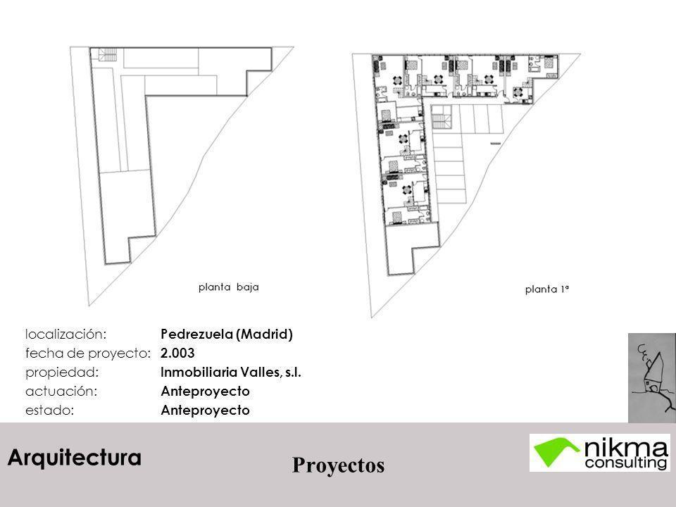 Proyectos localización: Pedrezuela (Madrid) fecha de proyecto: 2.003